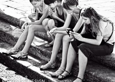 Women Resting on Steps