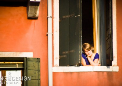 Pensive Window Woman