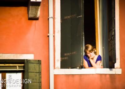 Pensive Window Woman