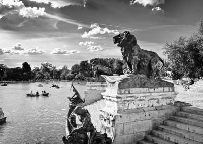 Madrid Park Summer Day