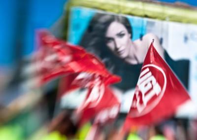 Billboard and Demonstrators