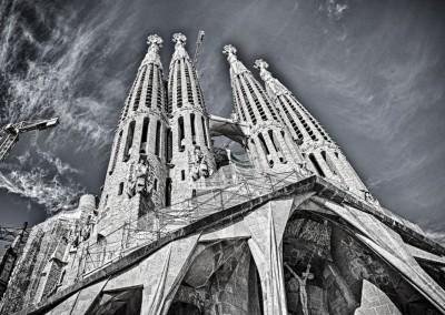 La Sagrada Familia Looking Up