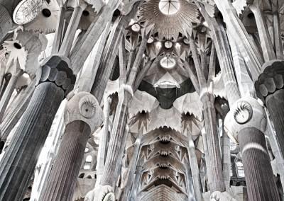 Interior La Sagrada Familia