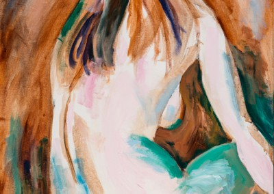 Abstracted Nudes in Oil