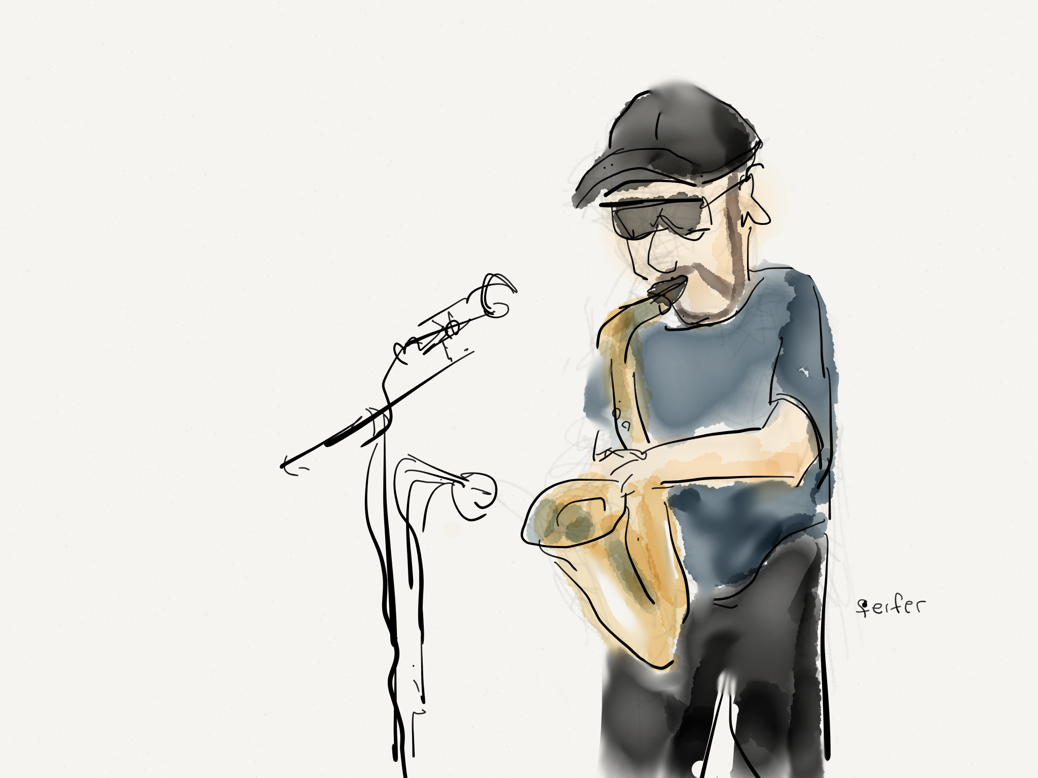 Sax at the Mall