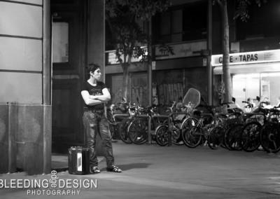 Barcelona Corner: matte B&W
