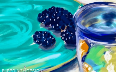Blackberries & Mug
