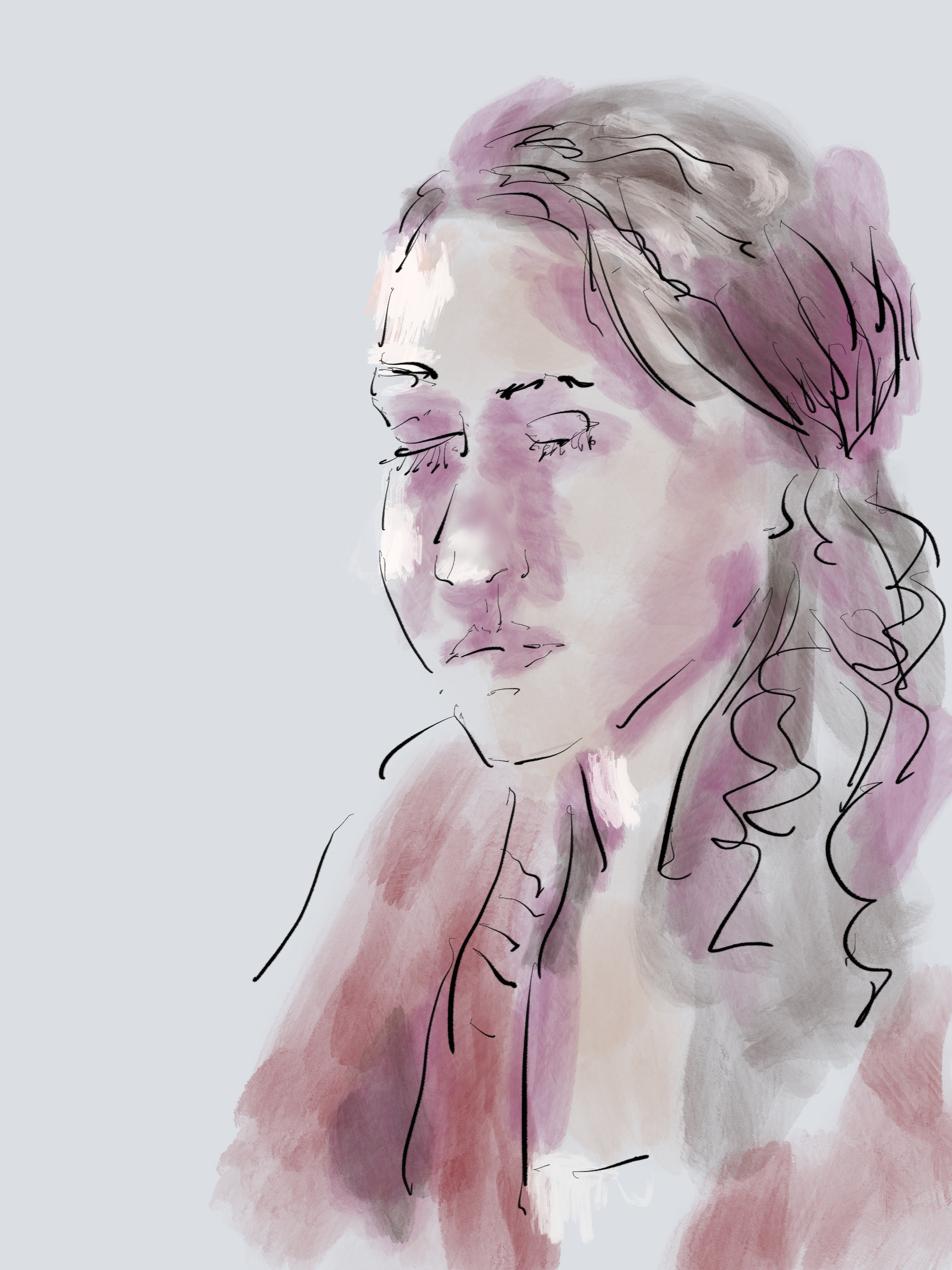 a digital painting of Yael