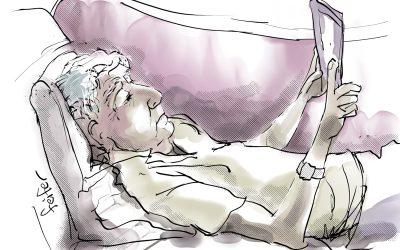 Brother Reading iPad