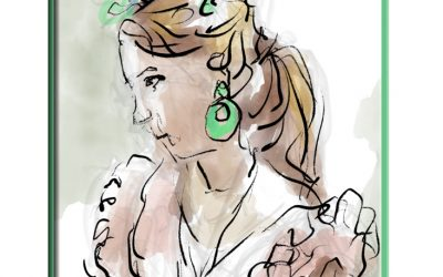 Girl with Green Earring